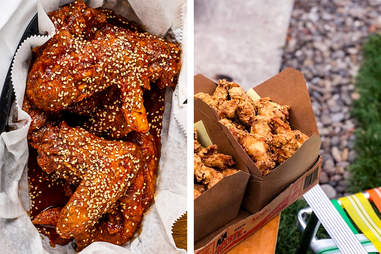 Korean types of fried chicken