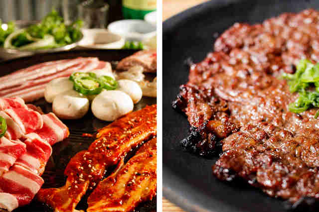 Meat platters - Korean food