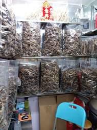 Dried seahorses inside plastic bags