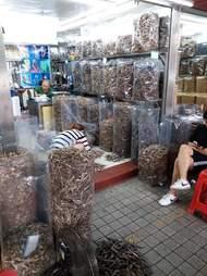 Hong Kong shop selling dried seahorses