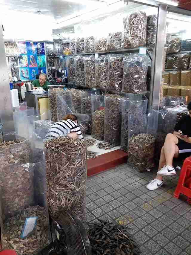 Hong Kong shop selling dried seahorses