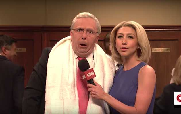GOP Senators Celebrate Brett Kavanaugh's Confirmation With a Locker Room Party on 'SNL'