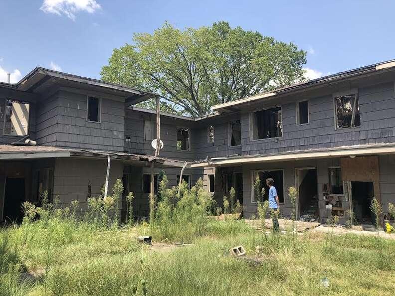 Abandoned apartment complex