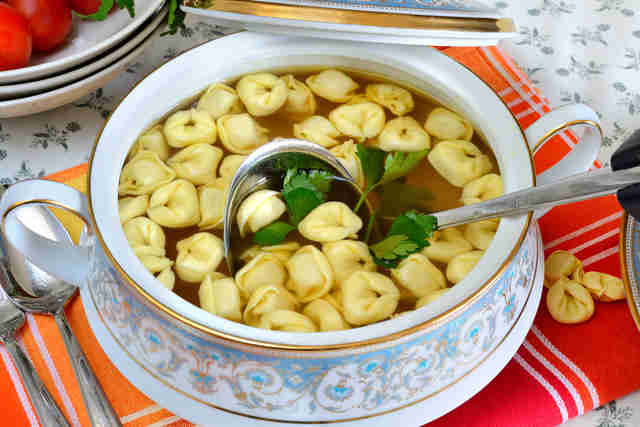 tortellini in broth