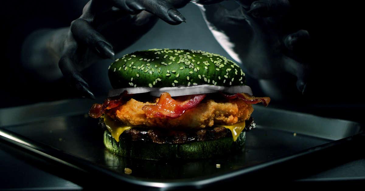 Restaurants Italian Near Me: Burger King's The Nightmare King Has Green Buns