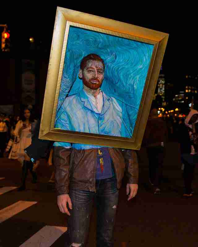 man dressed as Van Gogh portrait