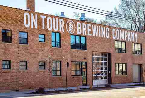 On Tour Brewing Co. brick exterior