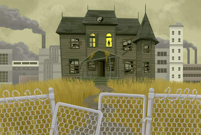 haunted house illustration