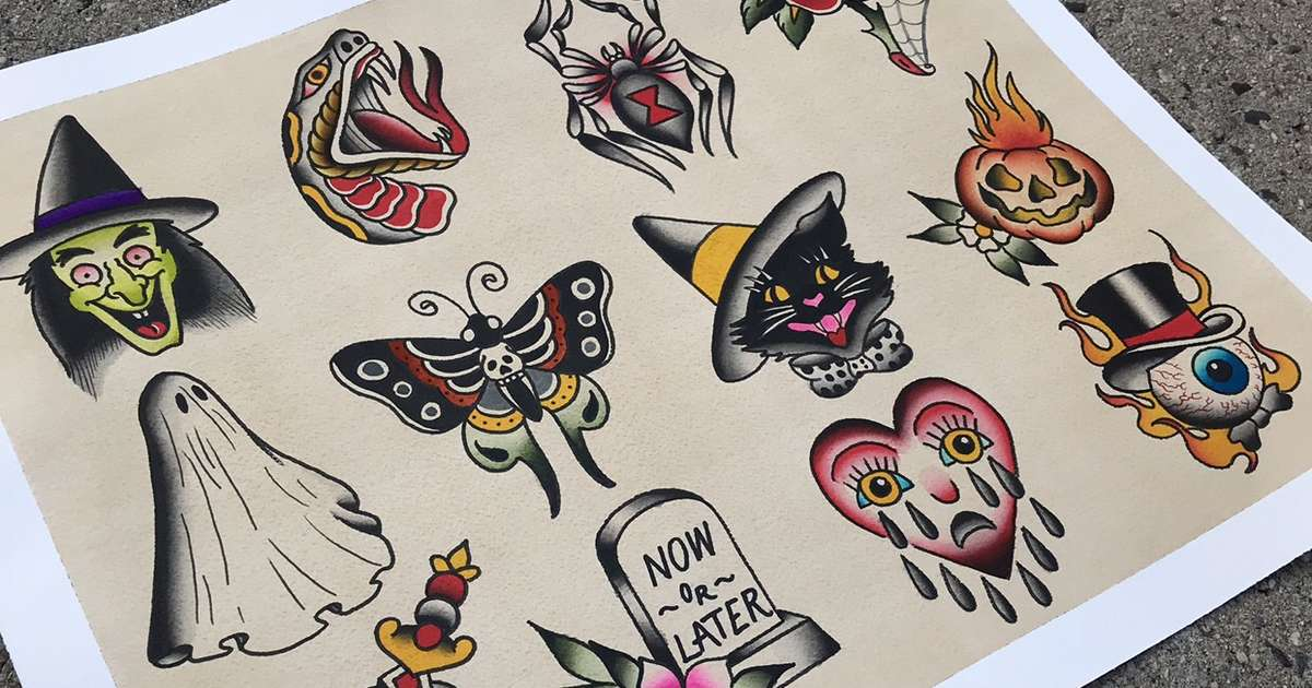 Here's Where You Can Get Halloween Tattoos for Cheap
