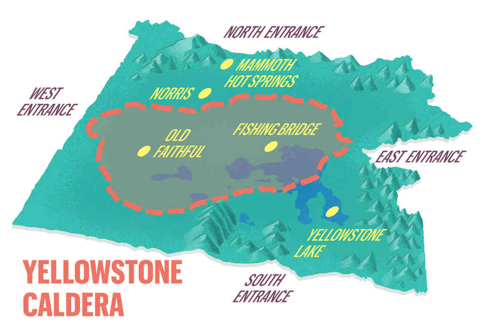 Yellowstone Supervolcano: Geologist Explains the Yellowstone Caldera on yellowstone ash map, yellowstone thermal features map, crater lake map, yellowstone magma, yellowstone super volcano blast radius, yellowstone death zone, mount vesuvius map, yellowstone blow up, yellowstone kill zone map, resurgent domes in yellowstone map, yellowstone supervolcano, yellowstone lake, grand canyon map, yellowstone volcano threat, mount pinatubo map, yellowstone wolf pack map, wyoming map, kilauea map, yellowstone hotspot, if yellowstone erupts map,