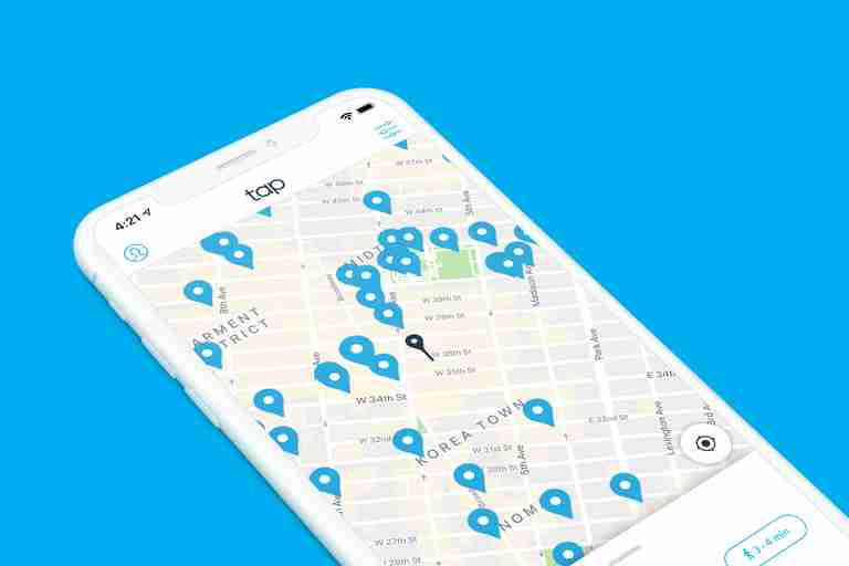 Tap app, drinking water, fountain, filling station, refillable bottles