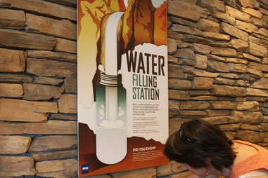 water filling station, drinking water, refillable bottles, yellowstone national park