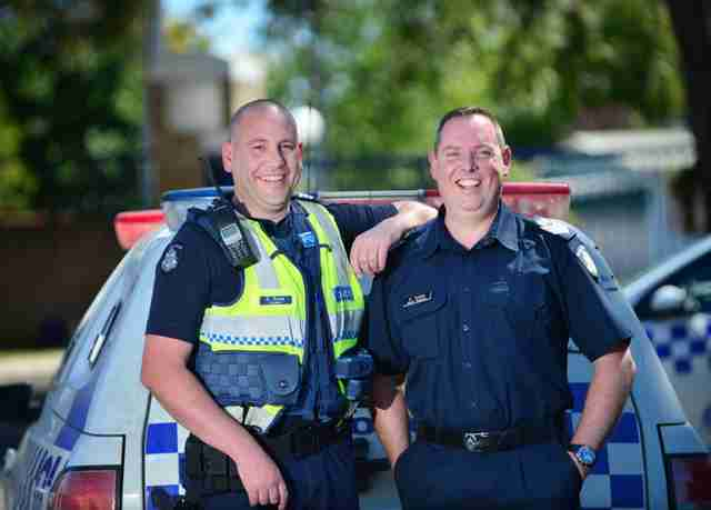 Sergeant Christopher Russo and Senior Sergeant Kirby of the police