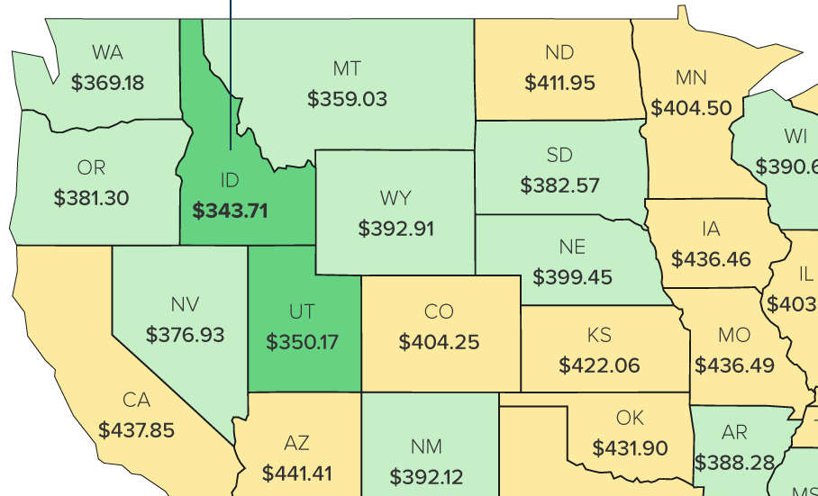 This Map Shows the States that Pay the Most for Utilities