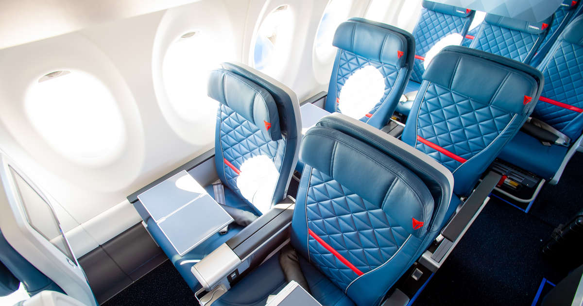 Delta's All-New Plane Has More Space, Less Turbulence, and Even a 'Restroom With a View'