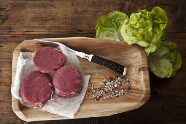 beef bison filet mignon cuts
