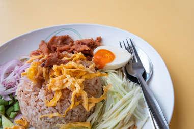 Khao kluk kapit shrimp paste fried rice thai food