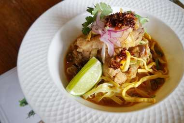 Yuu Yen khao soi thai coconut broth curry noodles northern thailand