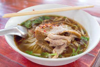 duck noodle soup boat noodles thai dish