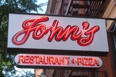 john's restaurant and pizza sign