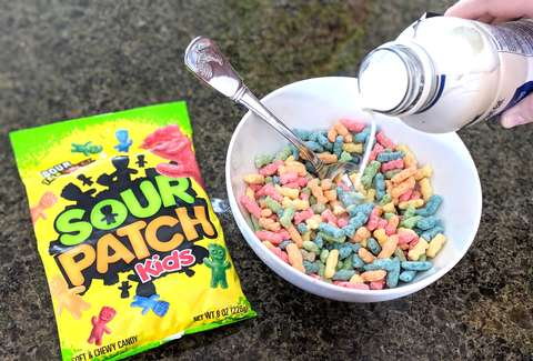 Image result for sour patch kids cereal
