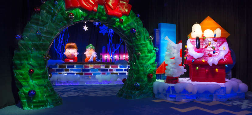 gaylord hotels icy village a charlie brown christmas