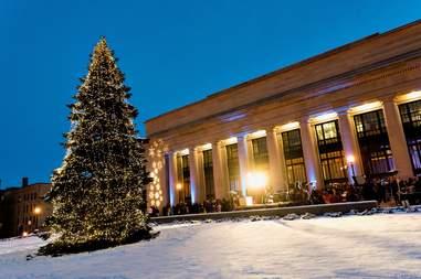 holiday tree lighting