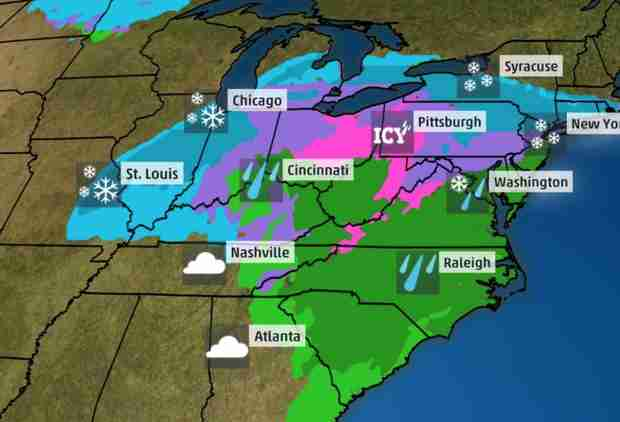 A Winter Storm With Snow, Ice & Rain Is Coming for a Big Part of the Country, so Happy Fall