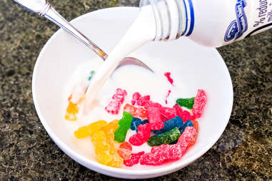 Sour Patch Kids in milk
