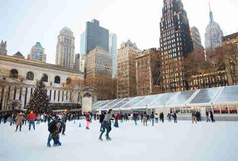 bryant park ice skating
