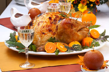 thanksgiving turkey and white wine