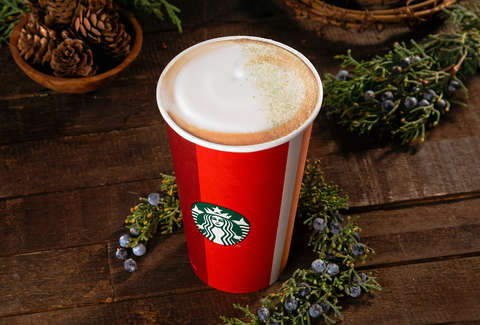 Starbucks Christmas Drinks 2018.Starbucks Juniper Latte New Drink Added To 2018 Holiday