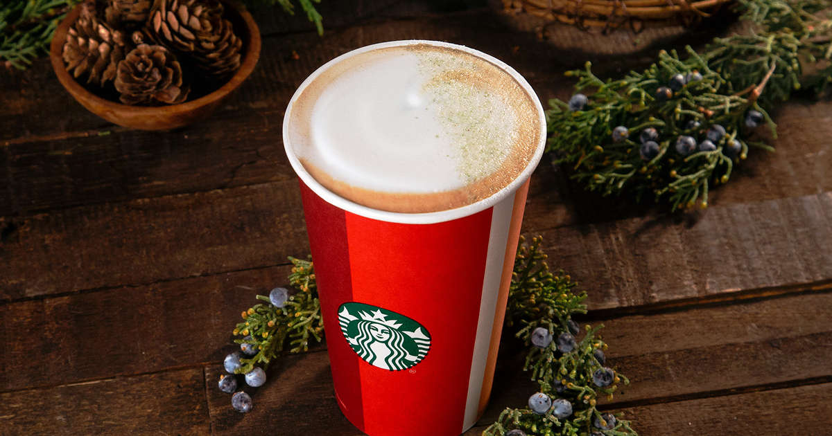 Starbucks Christmas Menu.Starbucks Juniper Latte New Drink Added To 2018 Holiday