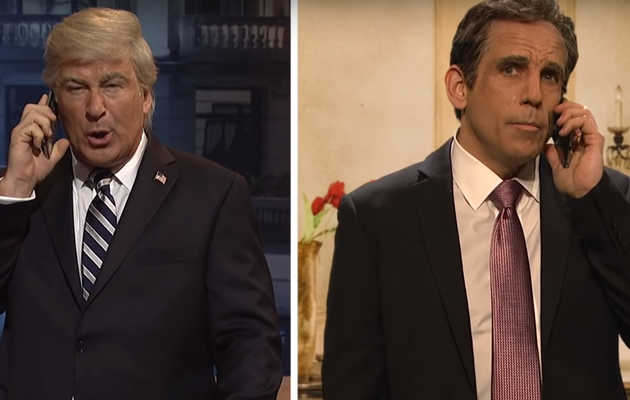Ben Stiller and Alec Baldwin Visit 'SNL' to Hilariously Rip Trump's Visit to Argentina