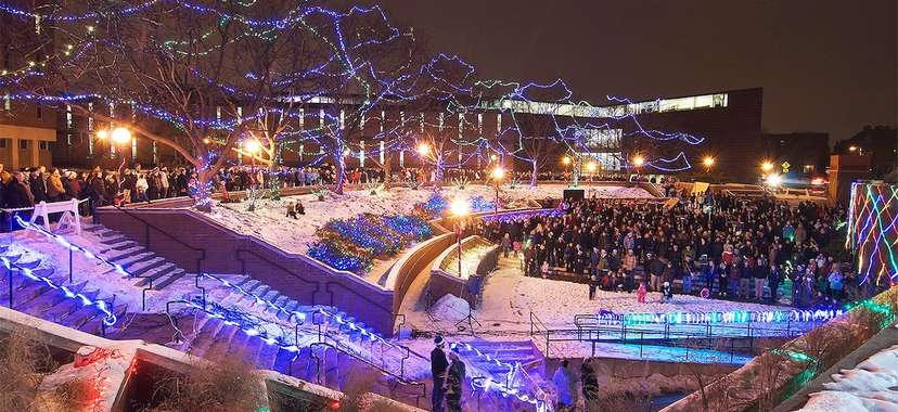 university of minnesota light show