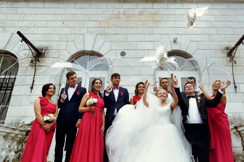 'Doves' released at weddings