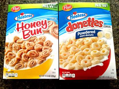 Donettes and Honey Bun cereal