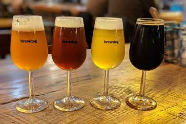 BrewDog beer flight