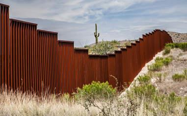 A stretch of the U.S. border wall in Arizona