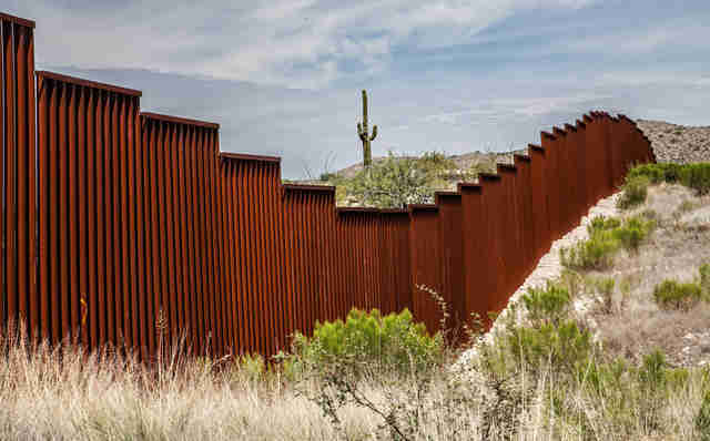 A stretch of the U.S. border wall in Arizona