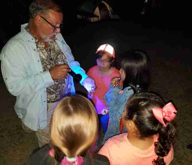 Kids explore nighttime creatures at the National Butterfly Center