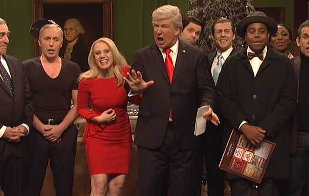 'SNL' Uses Star-Studded Lineup to Make a Trump Parody of 'It's a Wonderful Life'