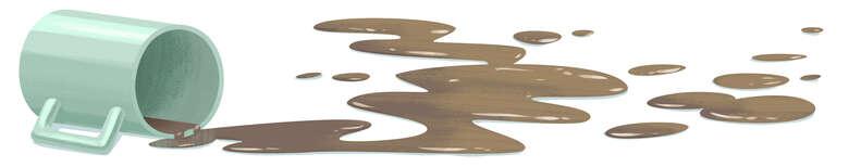 spilt coffee illustration