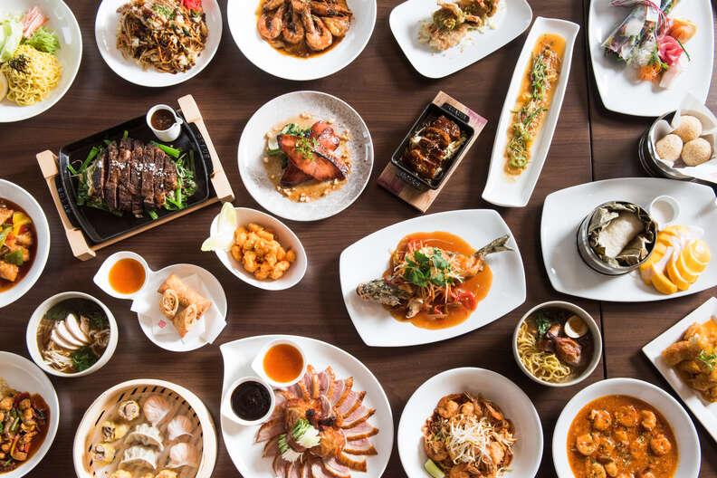 Morimoto Asia Waikiki table spread