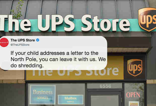 UPS Deleted a Tweet About Shredding Letters to Santa After People Freaked Out