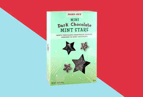 Mini dark chocolate mint stars Trader Joes