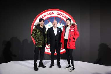 Models wearing Canada Goose jackets