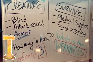 a quiet place whiteboard