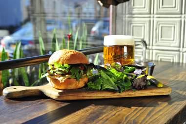 one stop beer shop chorizo egg sandwich
