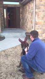 Parents surprise daughter with favorite rescue dog